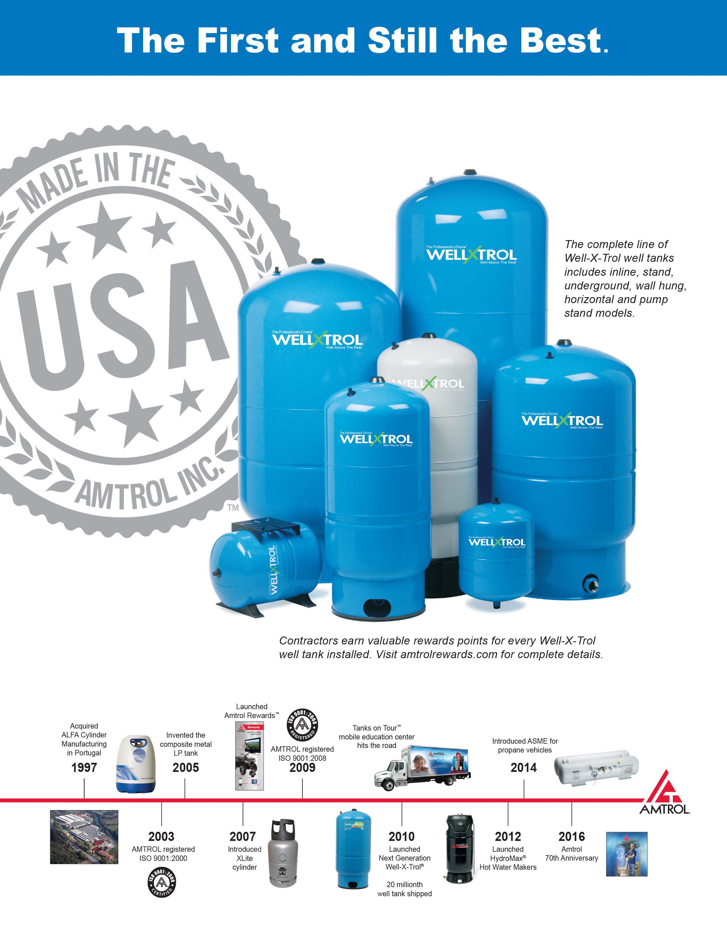 Water Pressure Tank AMTROL Well-X-Trol® - Grundfos Davey Pump Tanks ...